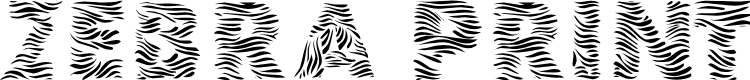 Preview image for 101! Zebra Print Font