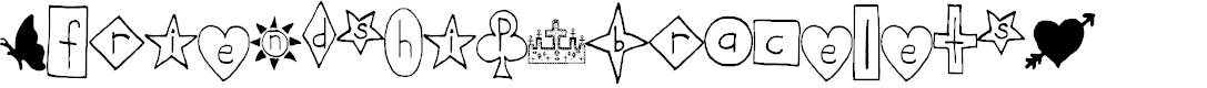 Preview image for Friendship Bracelets Regular Font