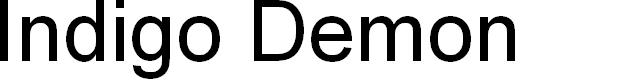 Preview image for Indigo Demon Title Italic