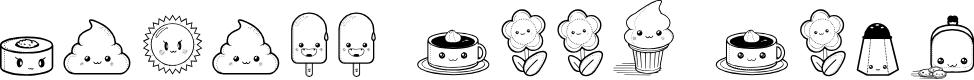 Preview image for Kawaii Food Font