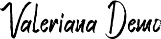 Preview image for Valeriana Demo Font