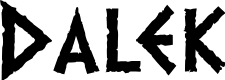 Preview image for Dalek Font