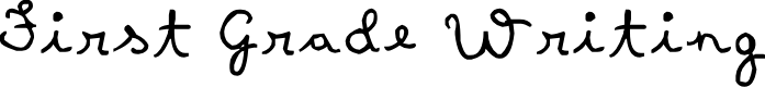 Preview image for First Grade Writing Font