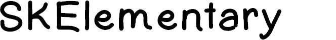 Preview image for SKElementary Font