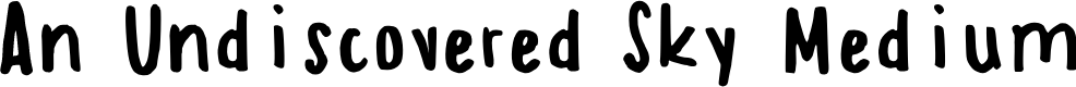 Preview image for An Undiscovered Sky Medium Font