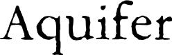 Preview image for Aquifer Font