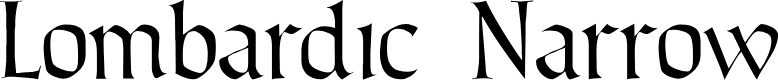 Preview image for Lombardic Narrow Font