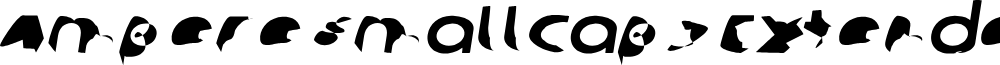 Ampere SmallCaps Extended Italic