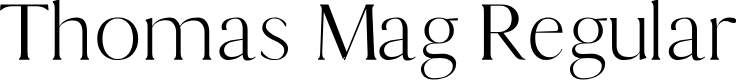 Preview image for Thomas Mag Regular Font