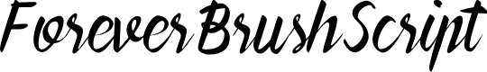 Preview image for ForeverBrushScript Font