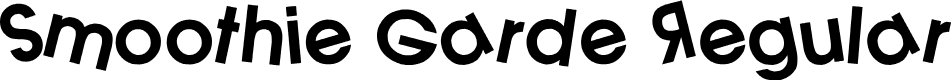 Preview image for Smoothie Garde Regular Font