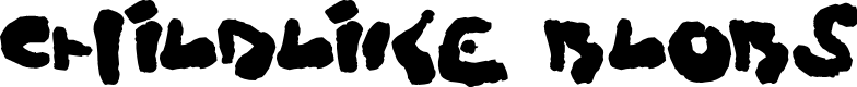 Preview image for Childlike Blobs Font
