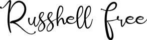 Preview image for Russhell Free Font