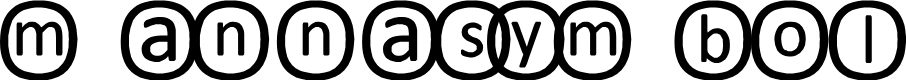 Preview image for mannasymbol Font