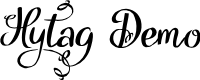 Preview image for Hytag Demo Font