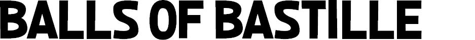 Preview image for Balls of Bastille Font