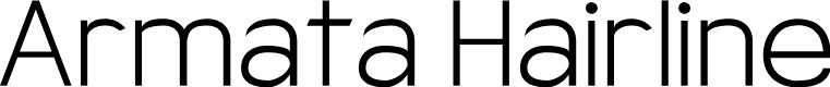 Preview image for Armata Hairline Font