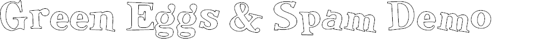 Preview image for Green Eggs & Spam Demo Font