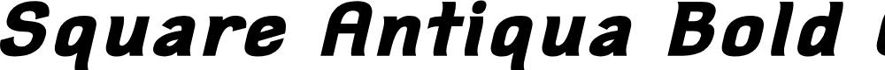 Preview image for Square Antiqua Bold Oblique