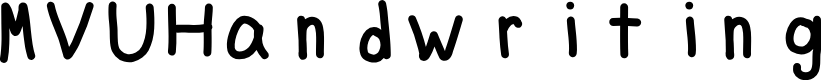 Preview image for MVUHandwriting Font