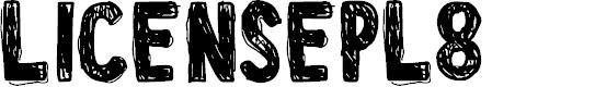 Preview image for LicensePl8 Font