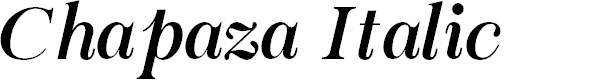 Preview image for Chapaza Italic