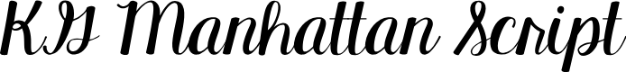 Preview image for KG Manhattan Script Font