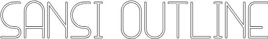 Preview image for SANSI Outline Font