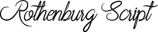 Rothenburg Script font