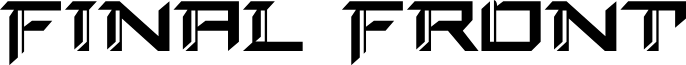 Final Front font