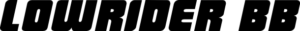 LowRider BB Italic