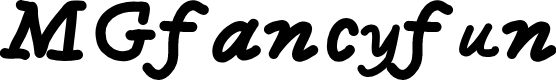 Preview image for MGfancyfun Font