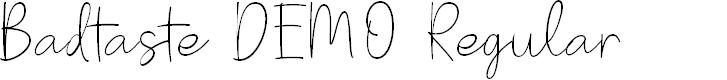 Preview image for Badtaste DEMO Regular Font