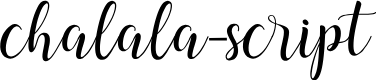 Preview image for chalala-script Font
