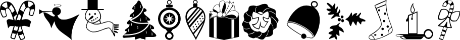 Preview image for Carr Xmas Dingbats Font