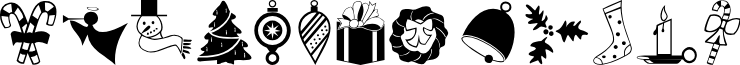 Carr Xmas Dingbats font