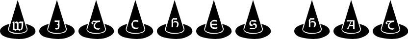 Preview image for 101! Witches Hat Font