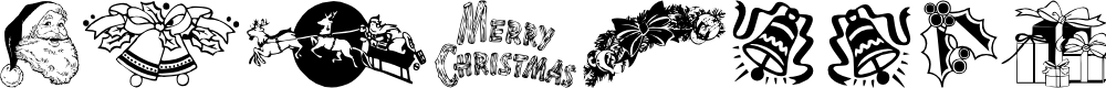 Preview image for Xmas Clipart Font
