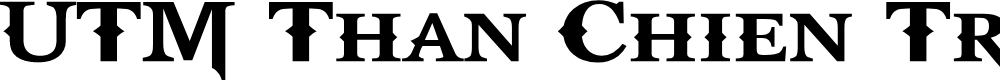 Preview image for UTM Than Chien Tranh Font
