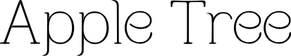 Preview image for Apple Tree Font