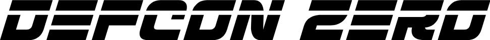 Preview image for Defcon Zero Laser Italic