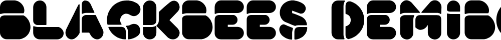 Preview image for BlackBees DemiBold Font