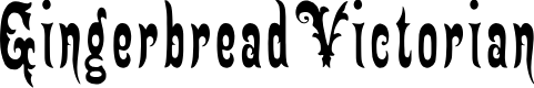 Preview image for GingerbreadVictorian Font
