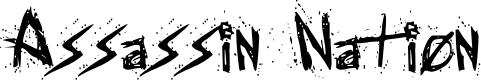 Preview image for Assassin Nation Regular Font