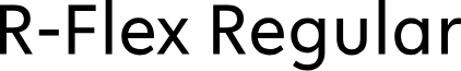 R-Flex Regular font