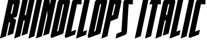 Preview image for Rhinoclops Italic