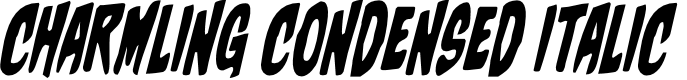 Preview image for Charmling Condensed Italic