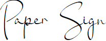 Preview image for Paper Sign Font