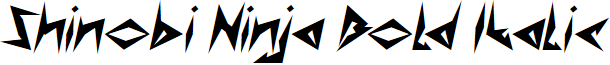 Shinobi Ninja Bold Italic
