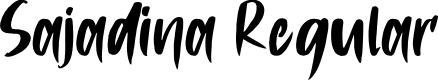 Preview image for Sajadina Regular Font